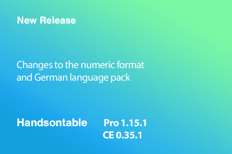 Handsontable Pro 1.15.1 (CE 0.35.1) released