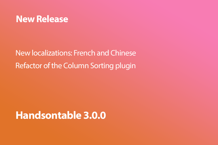 Handsontable 3.0.0 is now available
