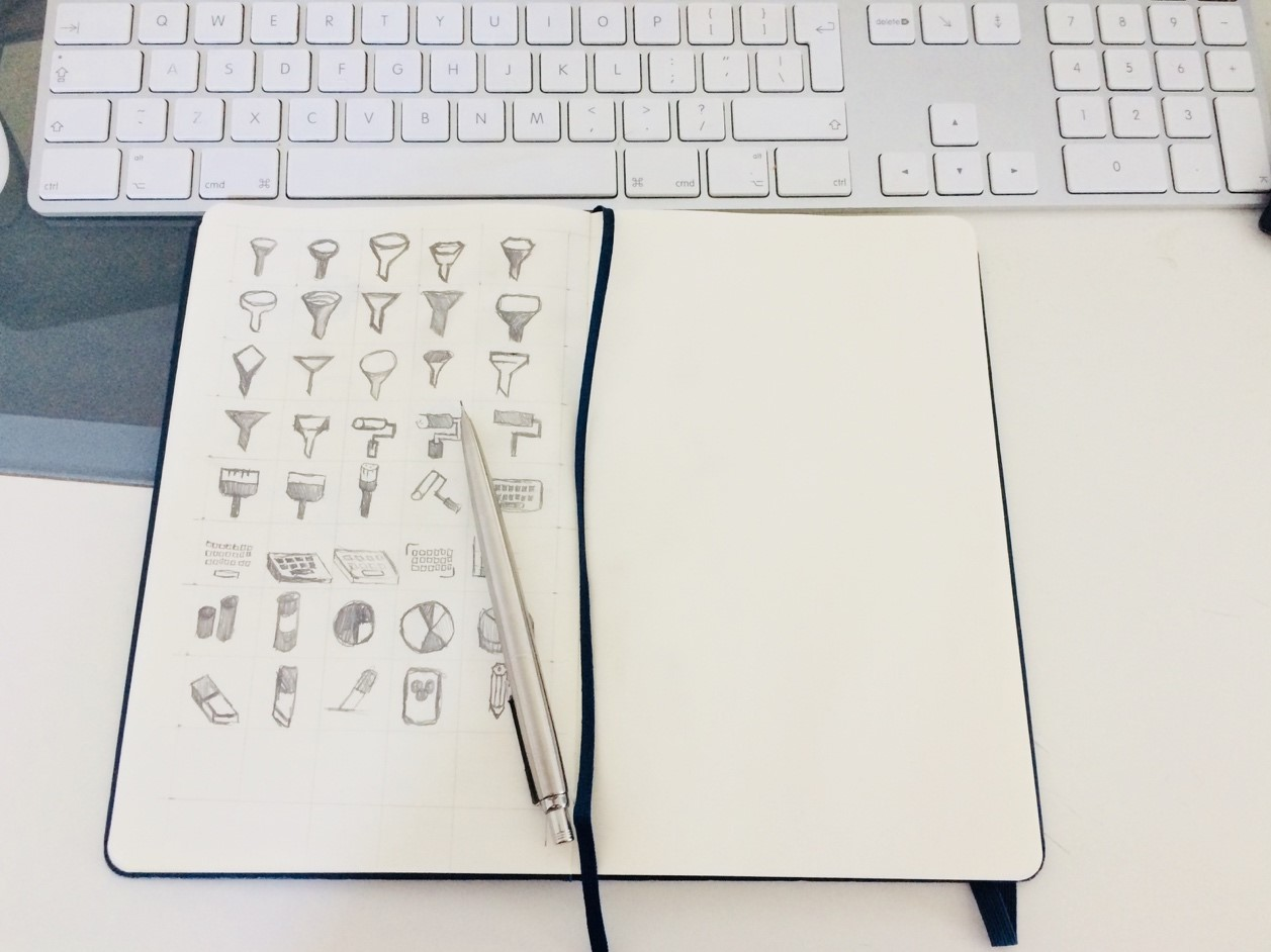 Hand-drawn sample icons