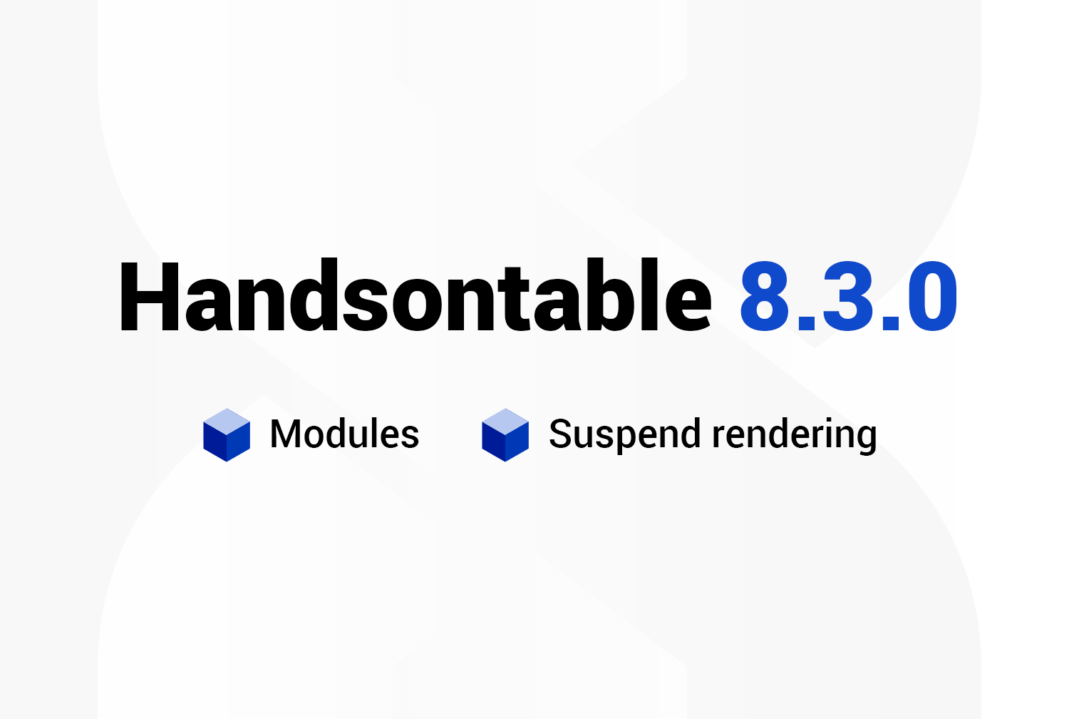 Handsontable 8.3.0 release