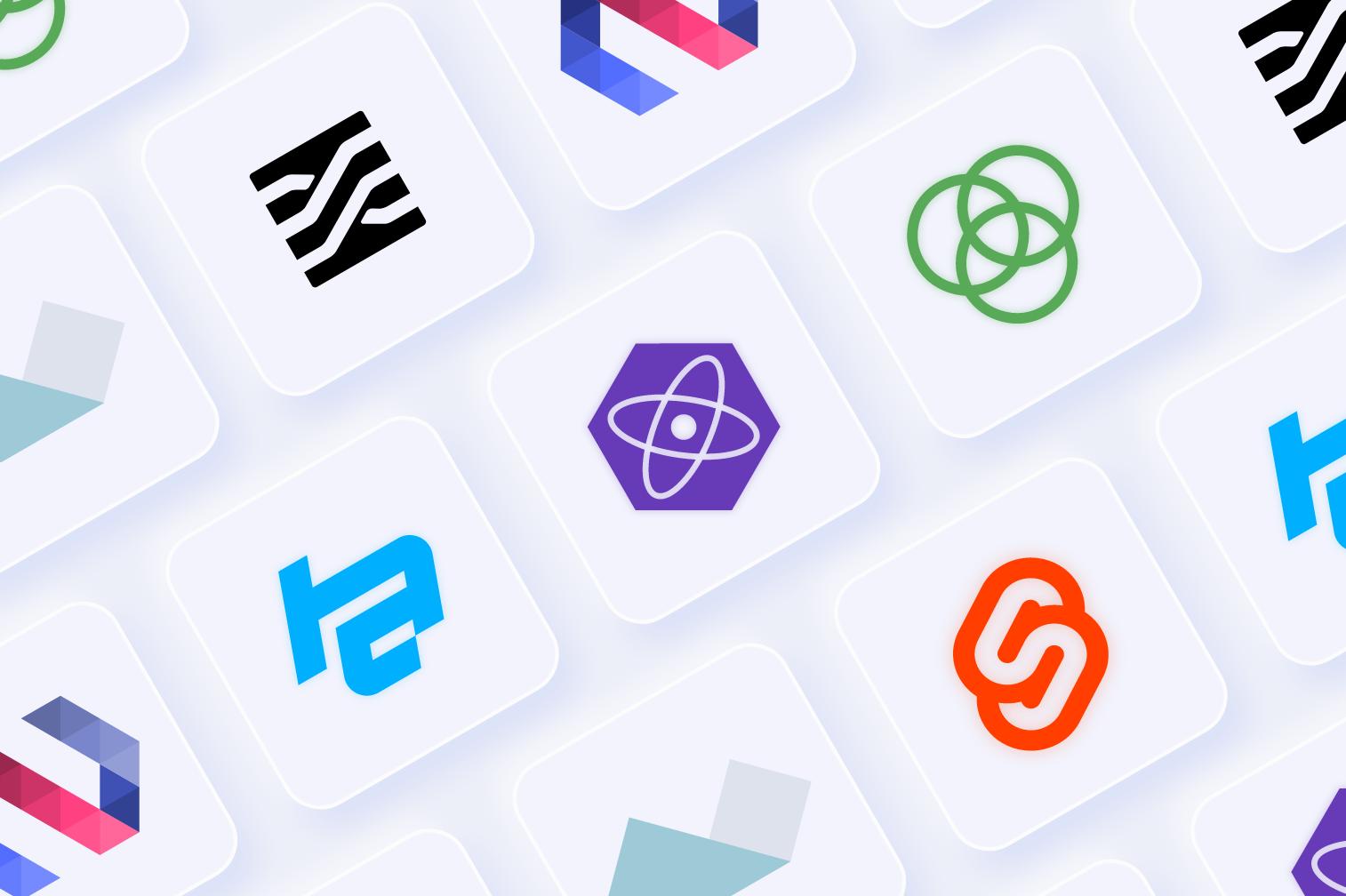 top trending niche javascript frameworks icons