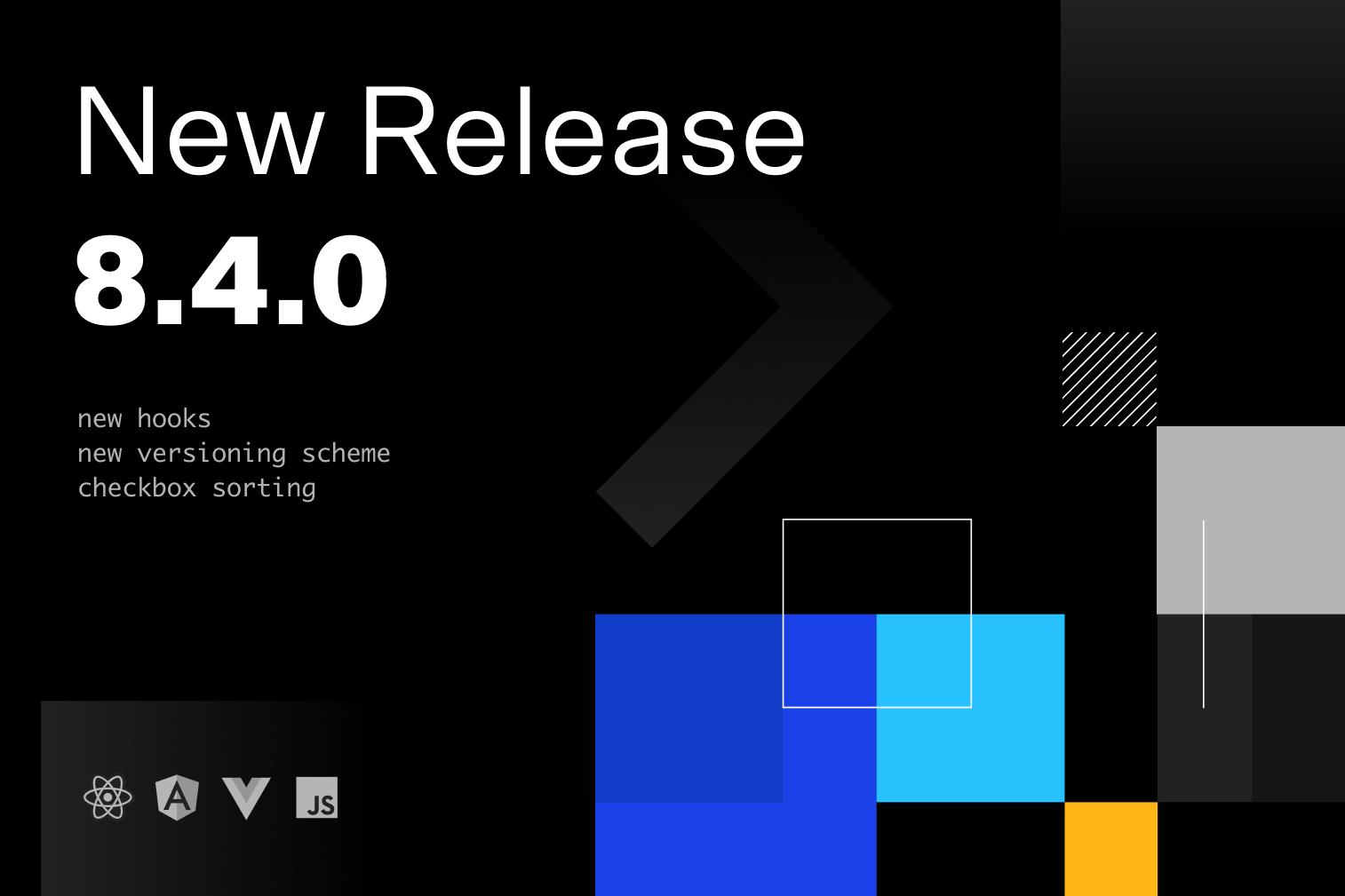 Handsontable 8.4.0 release illustration