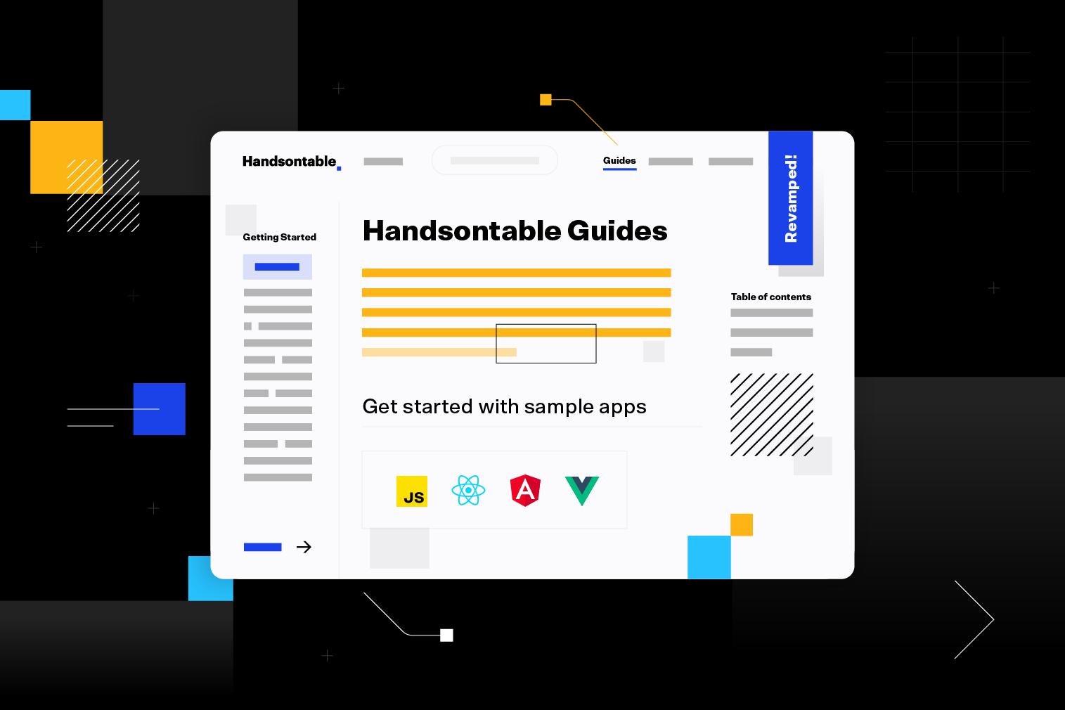 Handsontable documentation gets a major refresh
