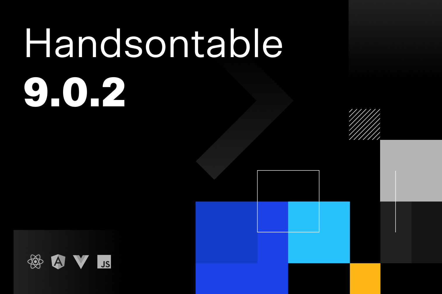 Handsontable 9.0.2 release graphic